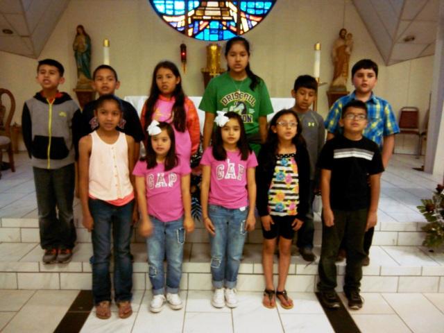 1st communion kids